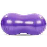 Мяч для фитнеса фитбол-арахис Profi DuoBall Фиолетовый (45х70 см) (MS 3233-V)