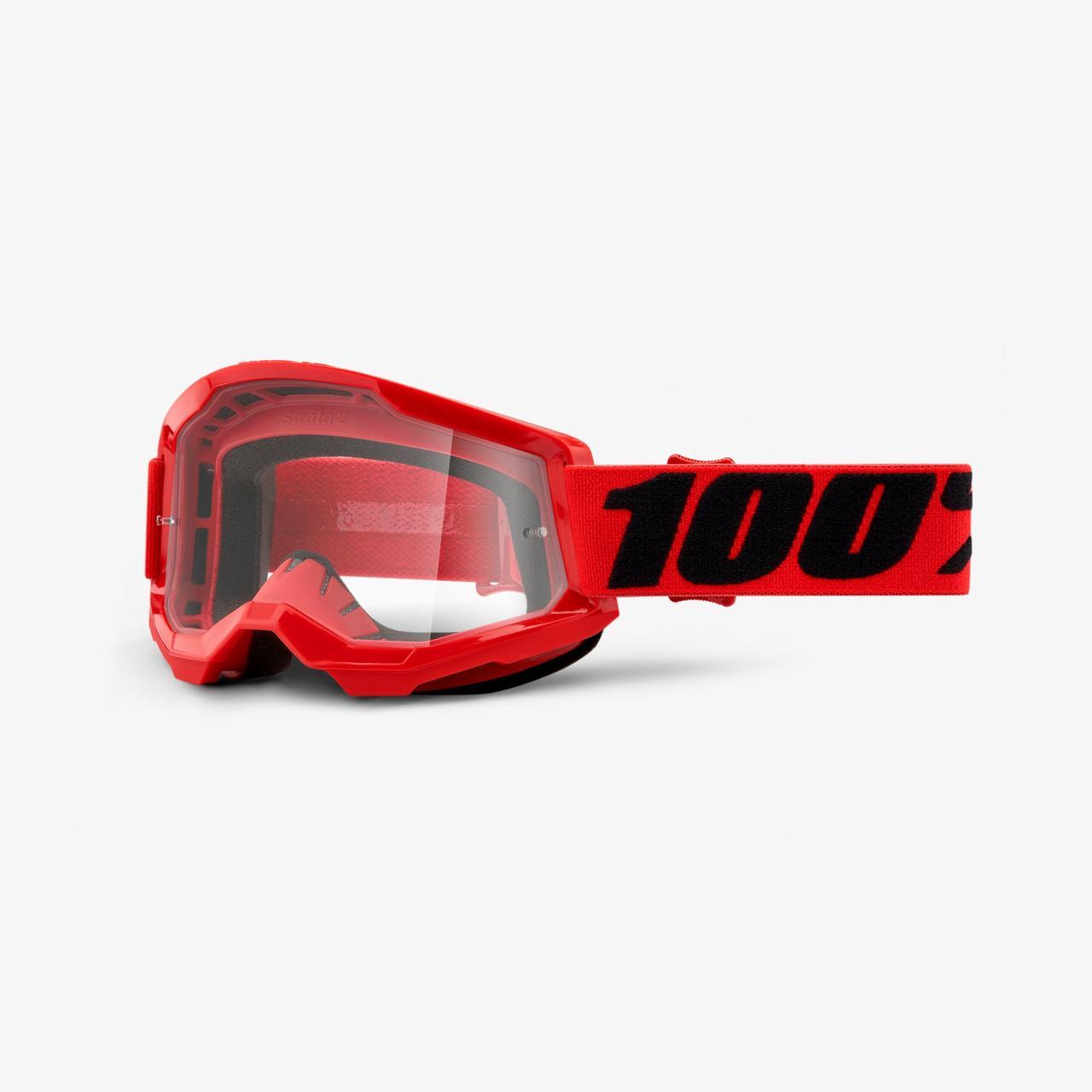 Мотоочки 100% STRATA Goggle II Red - Clear Lens