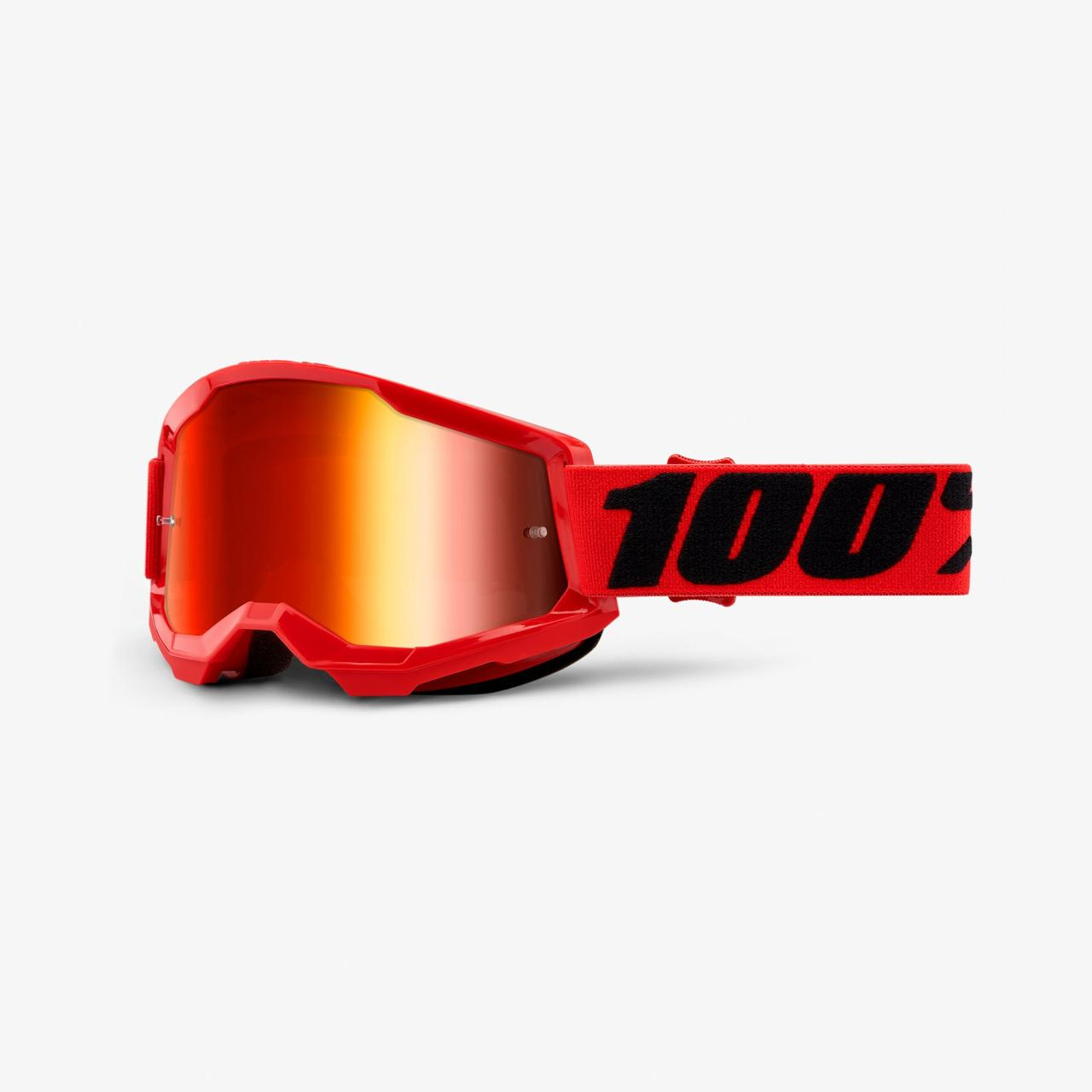 Мото окуляри 100% STRATA Goggle II Red - Mirror Red Lens