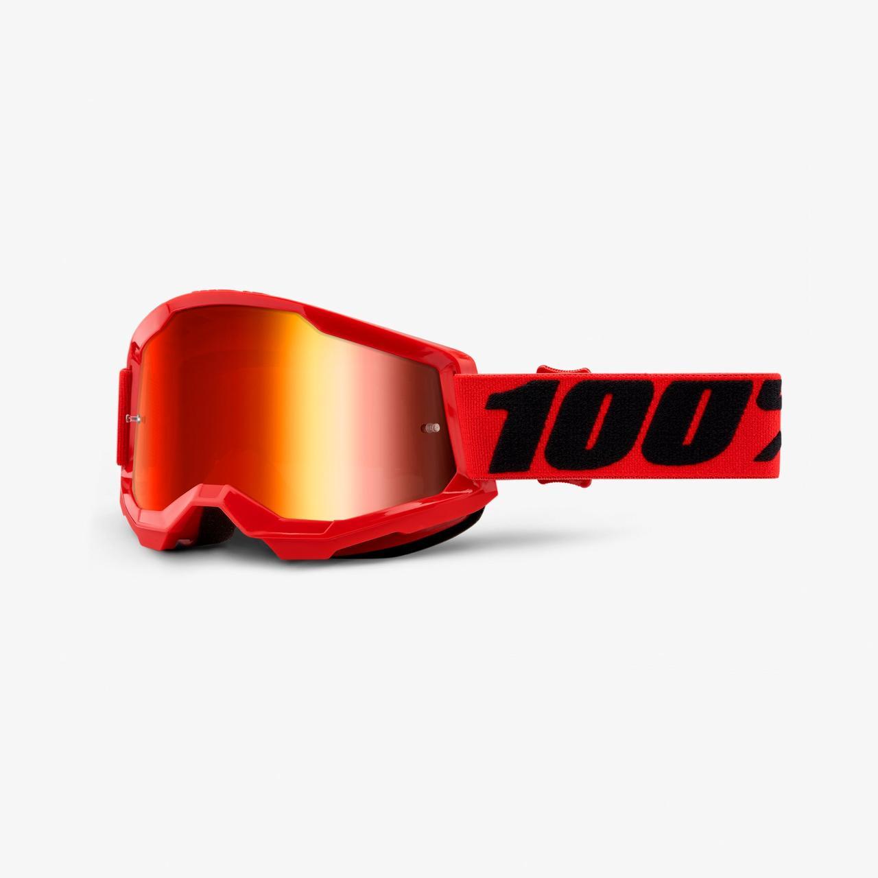 Мотоочки 100% STRATA Goggle II Red - Mirror Red Lens