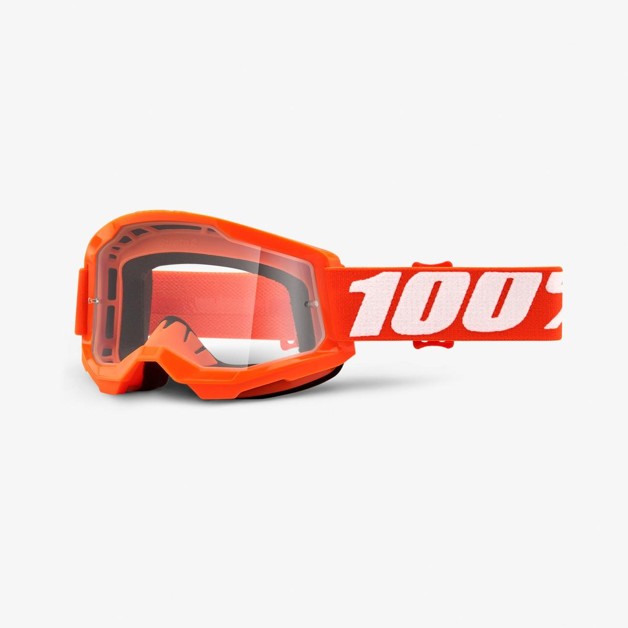 Мотоочки 100% STRATA Goggle II Orange - Clear Lens