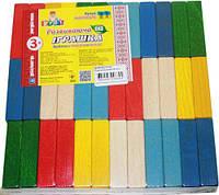 Брусочки разноцветные (36 деталей) Ду-64