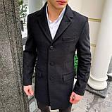 Пальто демісезонне  стрейчеве Batay чорне, фото 5