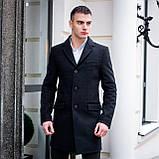 Пальто демісезонне  стрейчеве Batay чорне, фото 4