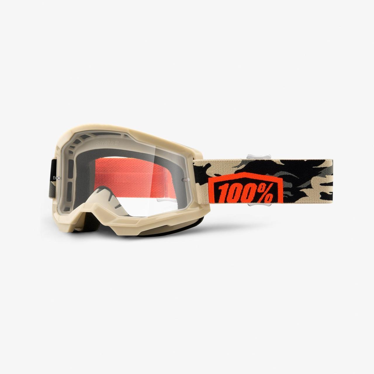 Мото окуляри 100% STRATA Goggle II Kombat - Clear Lens