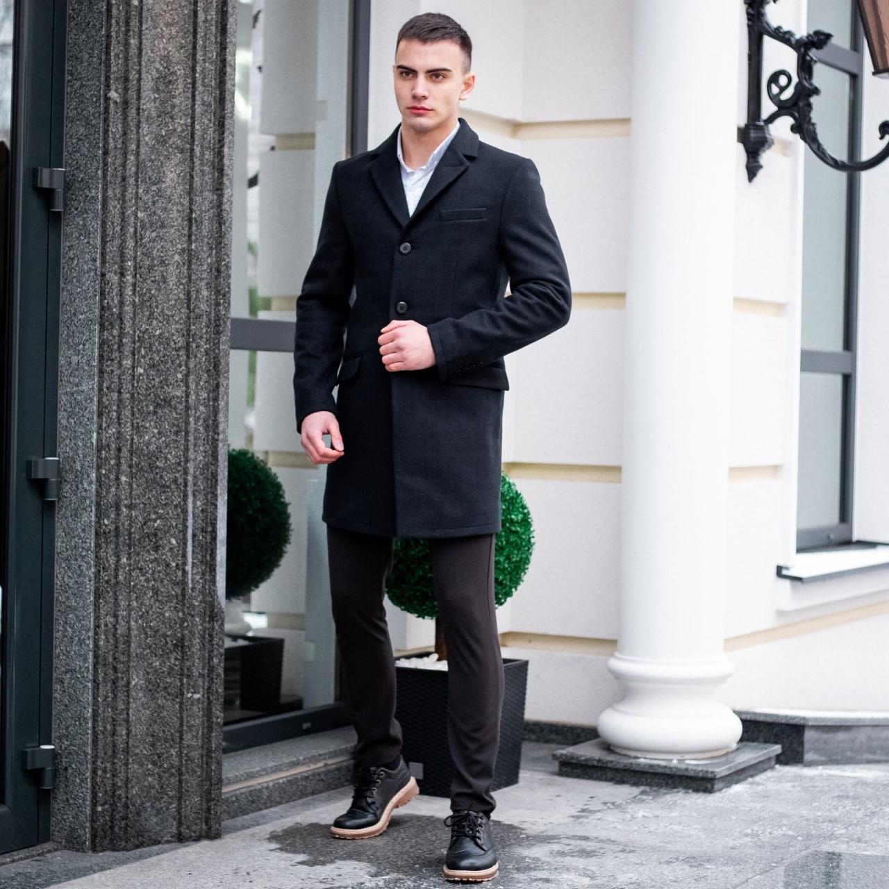 Пальто демісезонне  стрейчеве Batay чорне