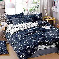 Постельное белье Звездопад, размер евро. Комплект постельного белья, бязь