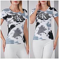 Турецкая стильная женская хлопковая футболка,  FP 2076