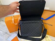 """Сумка """"мессенджер"""" Louis Vuitton District GM Damier Infini """"Черная/Серая"""", фото 3"""