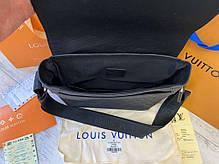 """Сумка """"мессенджер"""" Louis Vuitton District GM Damier Infini """"Черная/Серая"""", фото 2"""