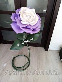 Светильник цветок из изолона