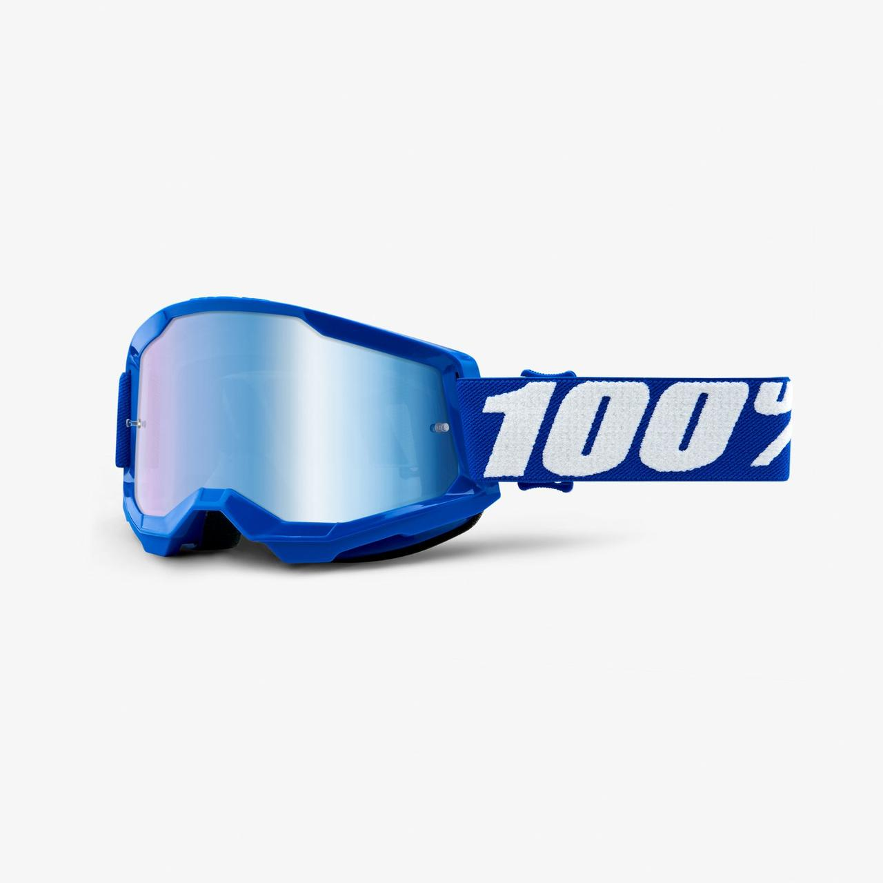 Мотоочки 100% STRATA Goggle II Blue - Mirror Blue Lens