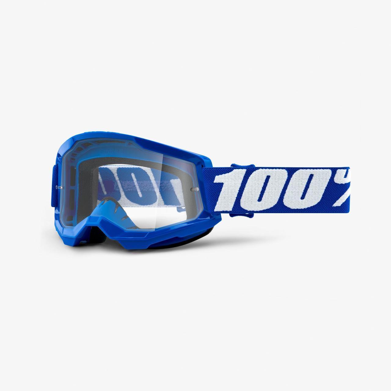 Мото окуляри 100% STRATA Goggle II Blue - Clear Lens