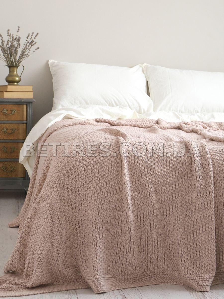 Покрывало 220x240 BETIRES DENIZ POWDER (50% хлопок, 50% акрил) розовое