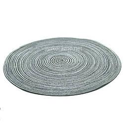 Сервировочный коврик 38 см, Маунт серый