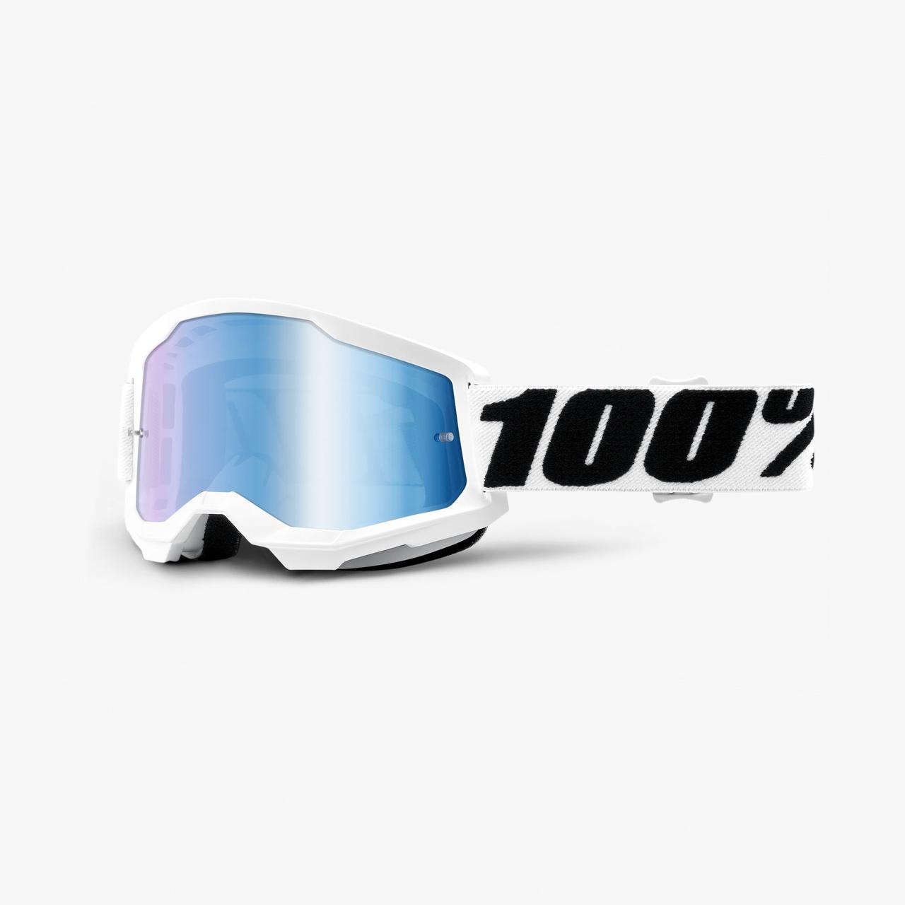 Мото окуляри 100% STRATA Goggle II Everest - Mirror Blue Lens