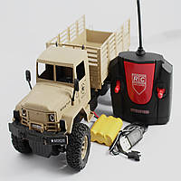 Модель полноприводного военного грузовика на р/у 3.7 V в масштабе 1/16. XOH TOYS 869-66 А-1