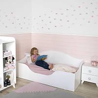 Кровать детская односпальная для девочки белая
