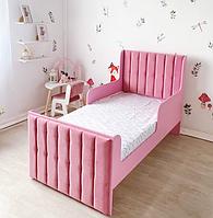 Кровать детская мягкая для девочки розовая LONDON