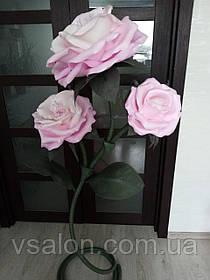 Светильник в виде розы из изолона