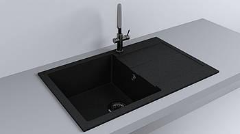 Мойка кухонная Fancy Marble Connecticut Черный