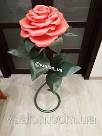 Большой цветок роза из изолона