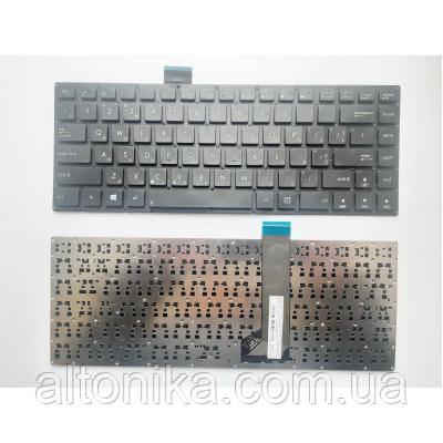 Клавиатура ноутбука ASUS S400 черная без рамки UA (MP-12F33US-9201/0KNB0-4107US00/AEXJ7U00010)