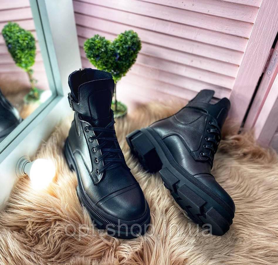Ботинки женские осенние демисезонные кожаные черевики жіночі демісезон, женские демисезонные ботинки берцы