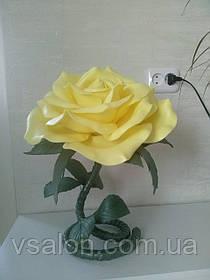 Цветы из изолона светильник роза