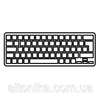 Клавиатура ноутбука Lenovo IdeaPad U510/Z710 Series черная с серебристой рамкой RU