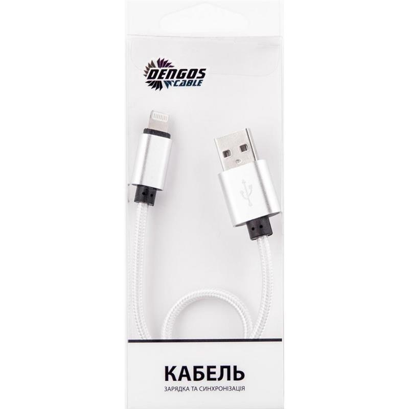 Кабель Dengos USB-Lightning 0.25м White (NTK-L-SHRT-WHITE)