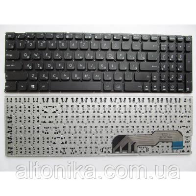 Клавиатура ноутбука ASUS X541 черн.без рамки RU/US (A43463)