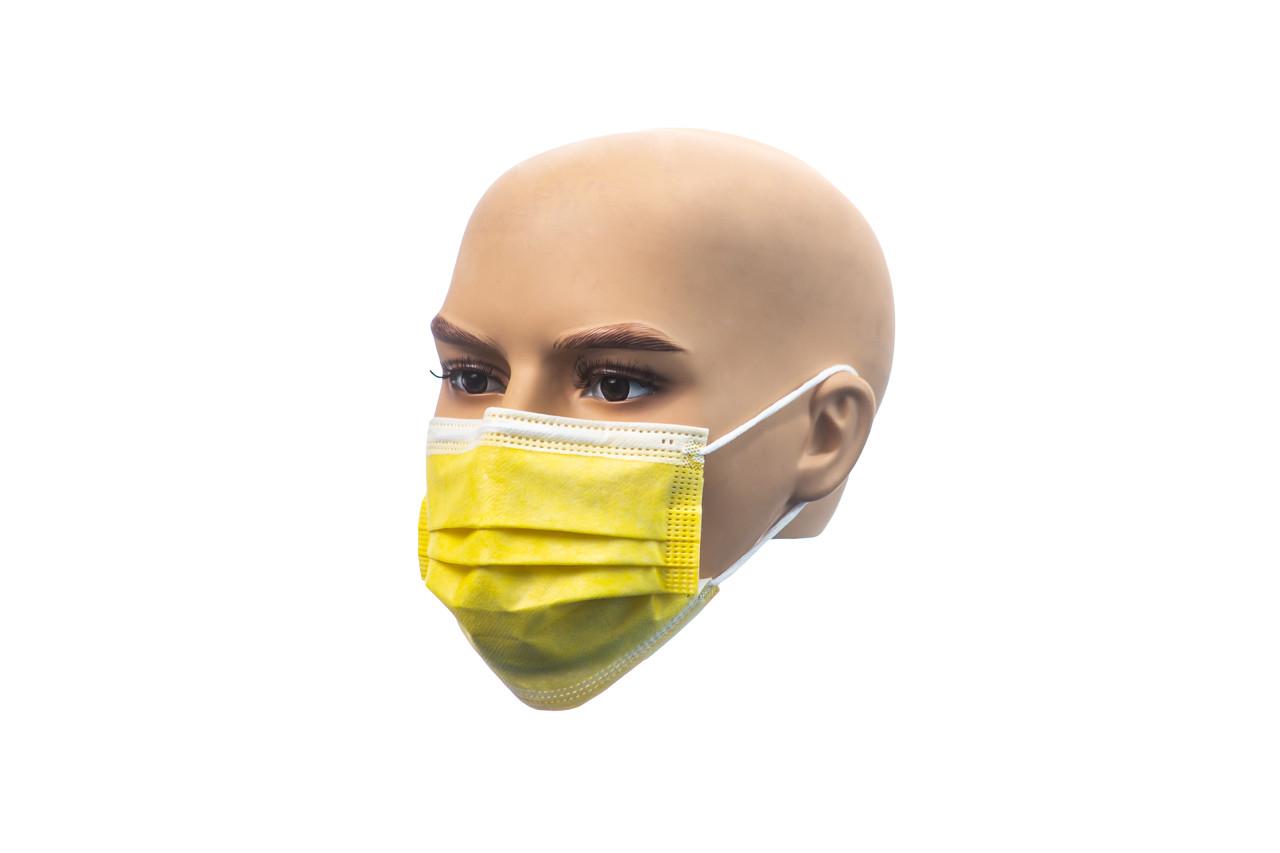 Маски медицинские желтые 1000 шт