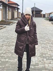 Р. 42-48 Женская зимняя куртка зефирка длинная