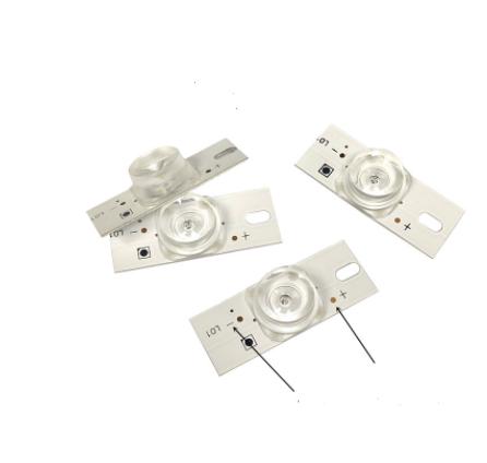 LED світлодіод 3V з лінзою для ремонту підсвітки матриць з алюмінієвим радіатором