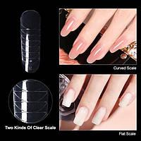 Верхні форми для нарощування нігтів гелем, полигелем, акрил-гелем Koper, 120 штук в упаковці