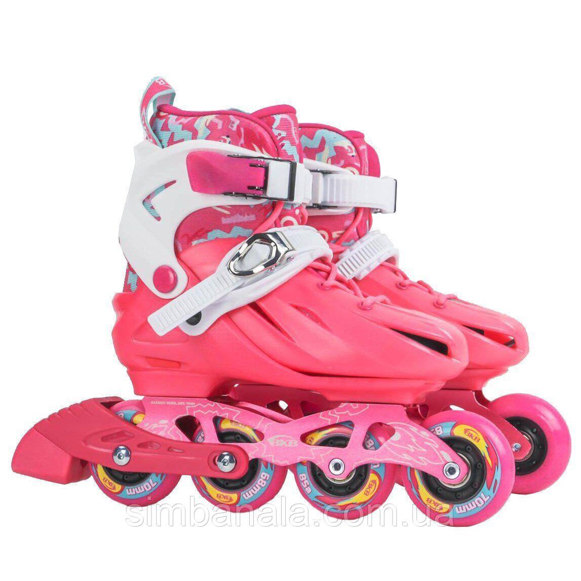 Детские ролики Flying Eagle BKB K8 Junior ( Pink/ Розовый)