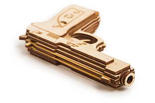 Собранная модель конструктора Пистолет. Сувенир из дерева Wood trick. Гарантия качества (Опт, дропшиппинг), фото 3