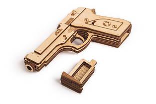 Собранная модель конструктора Пистолет. Сувенир из дерева Wood trick. Гарантия качества (Опт, дропшиппинг), фото 2