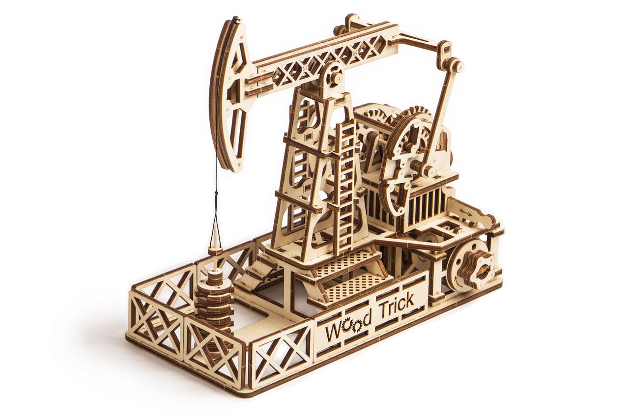 Собранная модель конструктора Нефтяная вышка. Сувенир Wood trick. Гарантия качества (Опт, дропшиппинг)