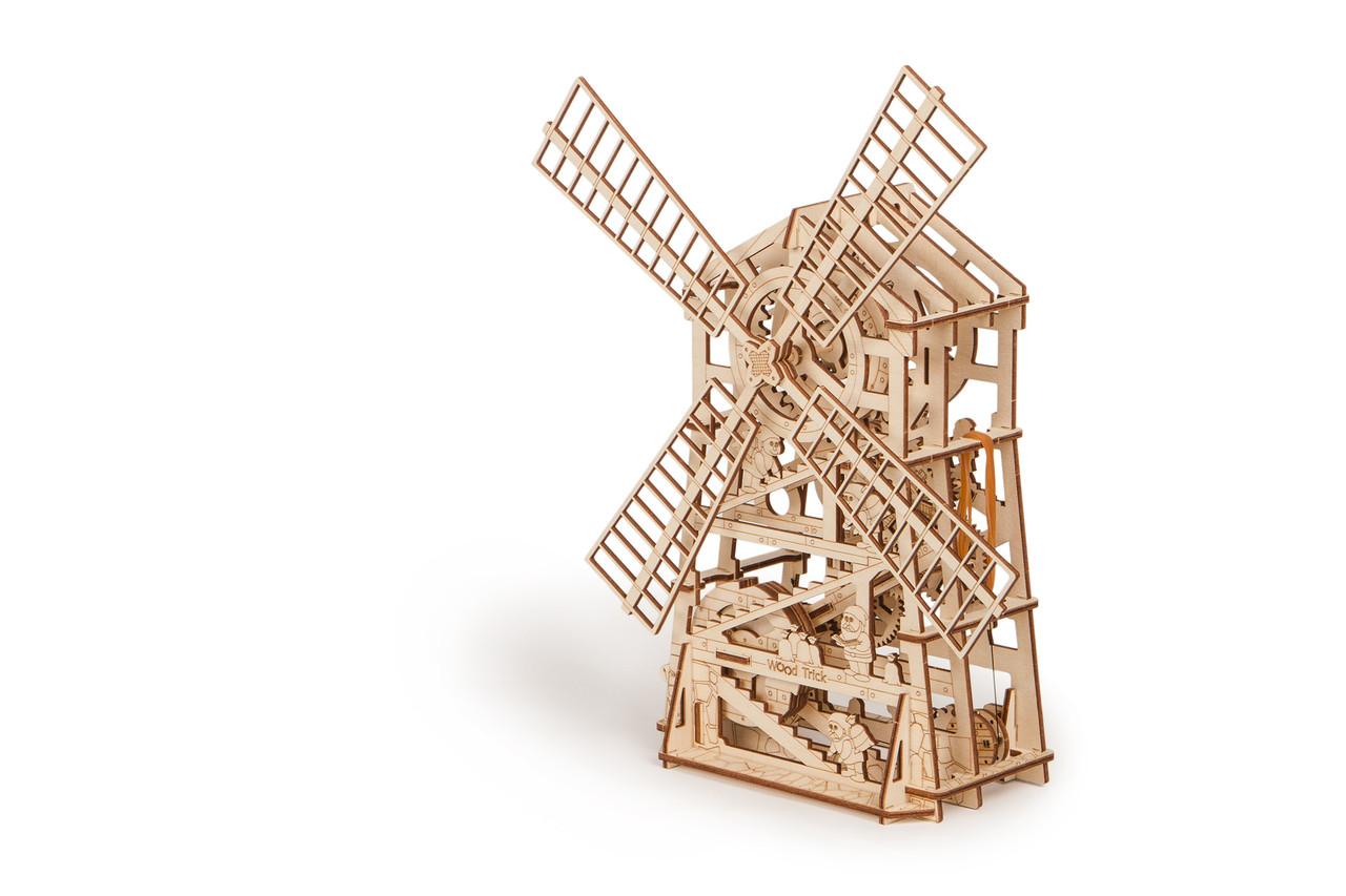 Собранная модель конструктора Мельница. Сувенир из дерева Wood trick. Гарантия качества (Опт, дропшиппинг)