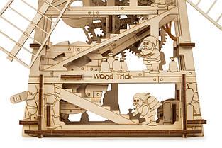 Собранная модель конструктора Мельница. Сувенир из дерева Wood trick. Гарантия качества (Опт, дропшиппинг), фото 3