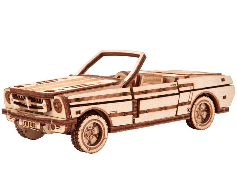 Собранная модель конструктора Кабриолет. Сувенир из дерева Wood trick Кабриолет. (Опт, дропшиппинг)