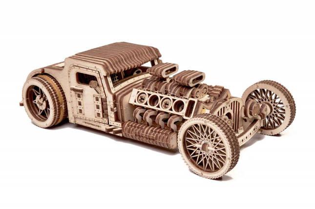 Конструктор деревянный Хот Род 3D. Wood trick пазл. 100% Гарантия качества (Опт,дропшиппинг), фото 2