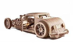 Конструктор деревянный Хот Род 3D. Wood trick пазл. 100% Гарантия качества (Опт,дропшиппинг), фото 3