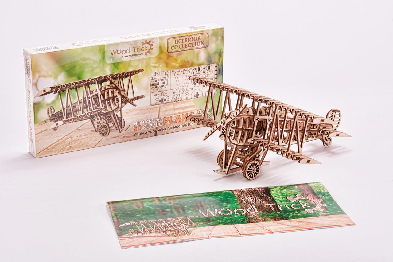 Конструктор деревянный Самолет 3D. Wood trick пазл. 100% Гарантия качества (Опт,дропшиппинг)