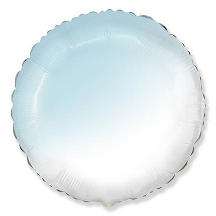 "Круг 32"" FLEXMETAL-ФМ Омбре бело-голубое (УП), фото 2"