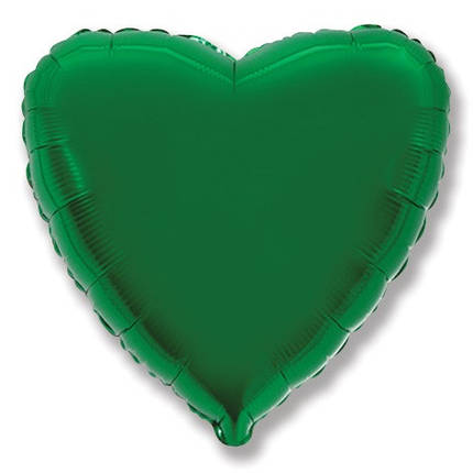"Сердце 32"" FLEXMETAL-ФМ Металлик зеленый (УП), фото 2"