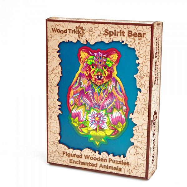 Дерев'яний пазл Натхненний Ведмідь Wood Trick. Фігурний пазл Spirit Bear (опт, дропшиппинг).