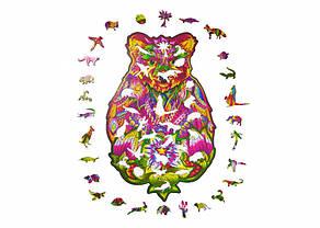Дерев'яний пазл Натхненний Ведмідь Wood Trick. Фігурний пазл Spirit Bear (опт, дропшиппинг)., фото 3